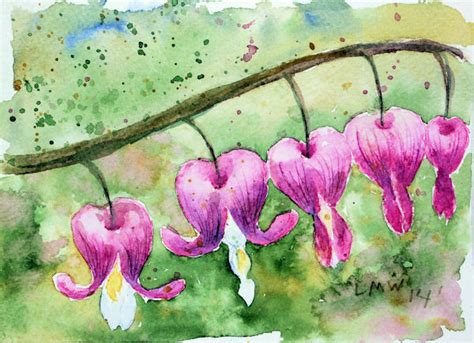 watercolor heart tutorial let s paint a bleeding heart flower with watercolor