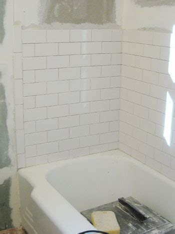 subway tile bathtub how to install subway tile in a shower marble floor