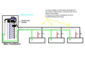 im wiring 240v baseboard heaters in parallel with