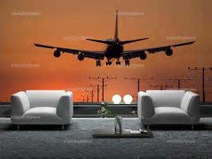 Aviation Wall Murals Wall Murals Sunset Canvas Prints Amp Posters Airplane 1255en