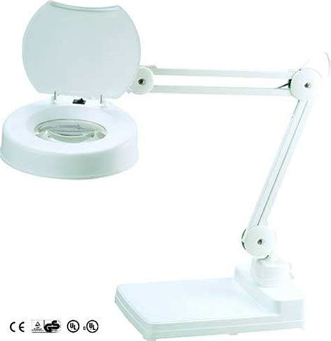 10 Diopter Magnifying L table magnifying l 5 inch 10 diopter lens with cover white
