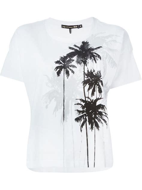 Tree Print Shirt lyst rag bone palm tree print t shirt in white