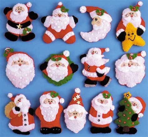 sale jolly santa faces bucilla felt applique tree 1000 images about felt applique embroidery on