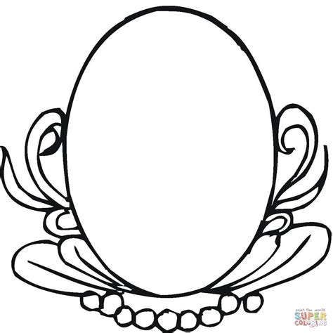 oval mirror coloring page free printable coloring pages