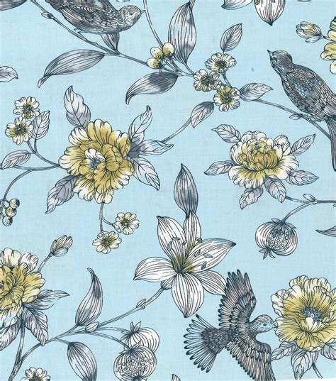 Bird Quilting Fabric by Jules Coco Quilt Fabric Floral Bird At Joann