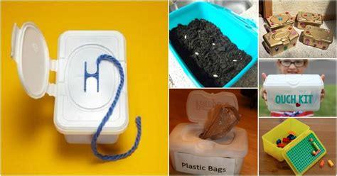 surprising ways   purpose baby wipe containers diy crafts