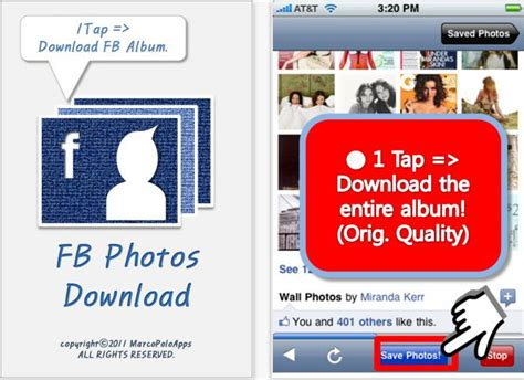 fb download how to download facebook photo albums on iphone
