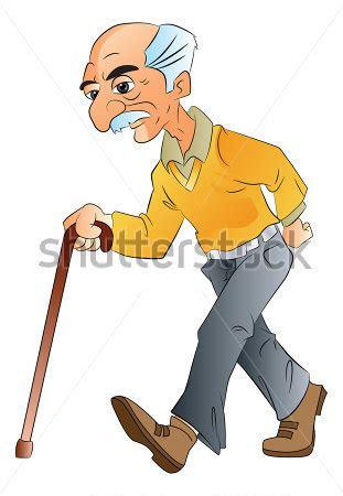 Walking With Papa By Yui Shin anciano caminando con un bast 243 n ilustraci 243 n vectorial vectores en stock clipart me