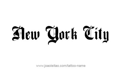 Search By Name And City New York City Name Designs Tattoos With Names