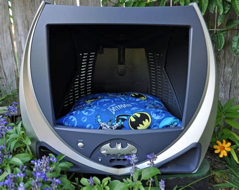 batman dog bed upcycled batman tv pet bed repurposed for cat or dog dc