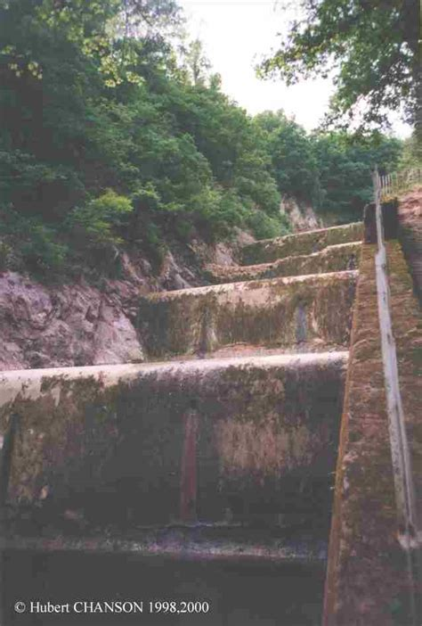 Narrow Modern House Gold Creek Dam And Its Historical Stepped Spillway System