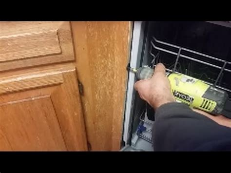 mounting dishwasher to cabinet how to mount a dishwasher granite counter top