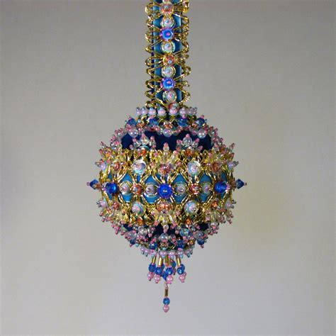 beaded christmas ornament kit iris