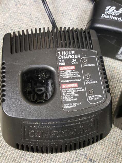 19 2 volt craftsman battery charger craftsman battery charger c3 19 2 volt battery like new buya