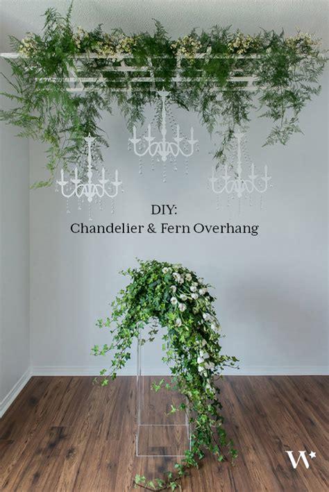 Diy Wedding Chandelier Diy Wedding Wednesday Pretty A Chandelier Fern Overhang The Details Weddingstar