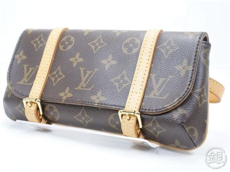 auth pre owned louis vuitton lv monogram pochette marelle