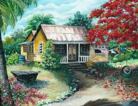 Old Florida Style House Plans trinidad life painting by karin dawn kelshall best