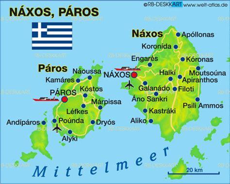 karte von naxos insel  griechenland welt atlasde