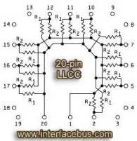 resistor network ic glossary of electronic resistor networks 20 pin llcc network schematic