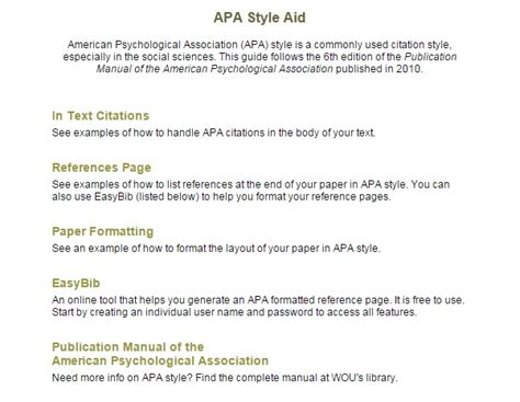 apa style format internet sources citing sources swk 842 human behavior theory selected