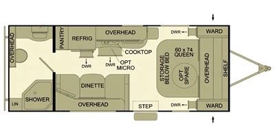 evergreen rv floor plans 2013 evergreen rv ascend series m 191rb specs and standard