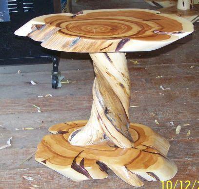 daves custom log furniture twisted juniper  blue pine