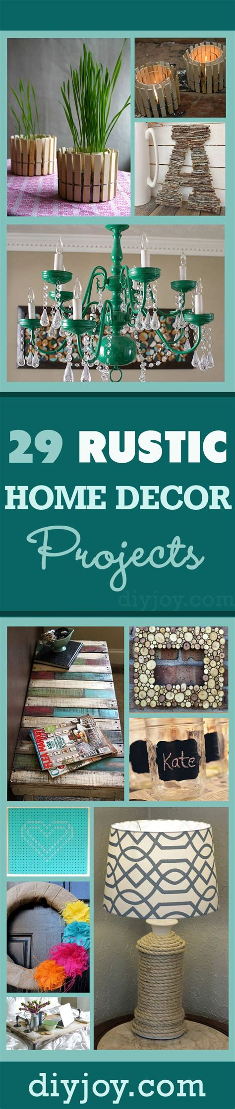 diy projects home decor 29 rustic diy home decor ideas