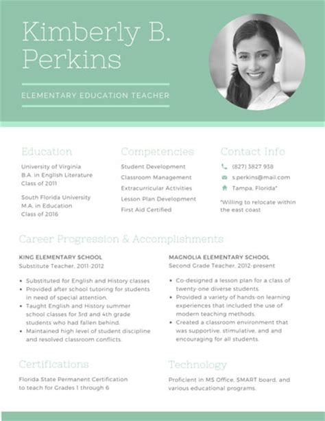 Photo On Resume by Professional Resume Templates Canva