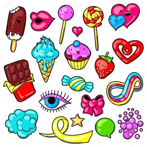 imagenes de cosas unicas conjunto de kawaii dulces y caramelos dulce locura cosas