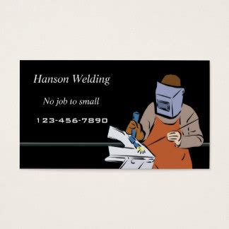 Welding Business Card Templates Free by Welding Business Cards Templates Zazzle