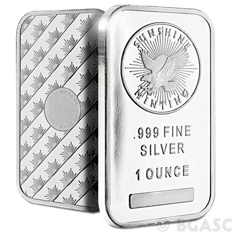 1 Ounce Silver Bar - buy 1 oz silver bar minting 999 bullion