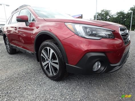 red subaru outback 2018 crimson red pearl subaru outback 2 5i limited