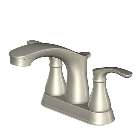 aquasource bathroom sink shop aquasource garner brushed nickel 2 handle 4 in centerset watersense bathroom sink