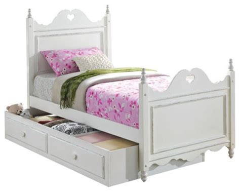 youth beds white youth kid four poster bed with drawer storage