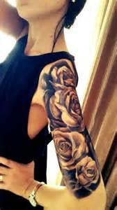 half sleeve black roses tattoo tattoo pinterest