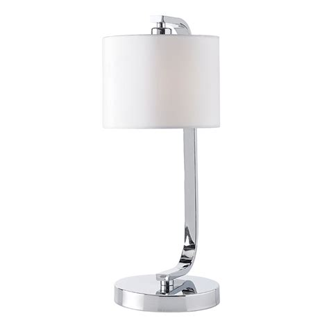 endon canning tlch chrome touch table bedside l with