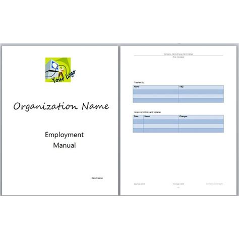 Employee Handbook Cover Page Template best photos of manual cover page template employee