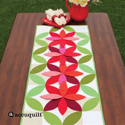 accuquilt pattern ideas go bloom table runner accuquilt accuquilt table