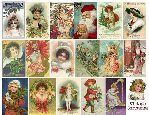 printable christmas vintage stin d amour free vintage printable christmas collage
