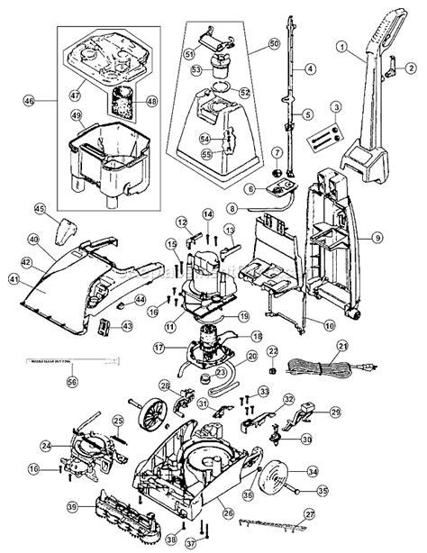 hoover carpet cleaner parts diagram hoover fh50026 parts list and diagram ereplacementparts