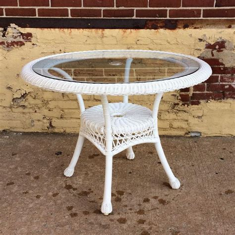 large round wicker dining table patio furniture