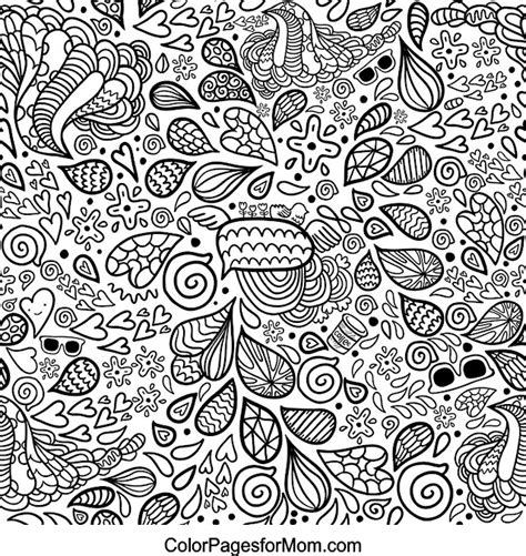 hipster pattern drawing hearts 25 advanced coloring page