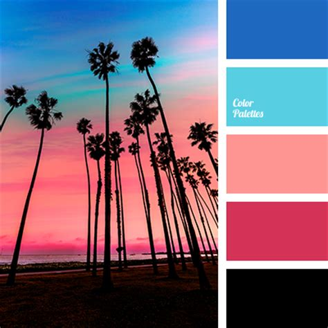 what color matches with pink and blue neon blue color palette ideas