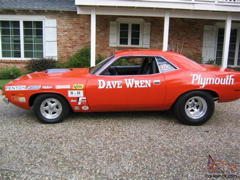 historical cars for sale plymouth barracuda historical race car