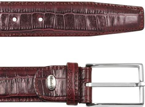 manieri s burgundy croco sted leather belt in