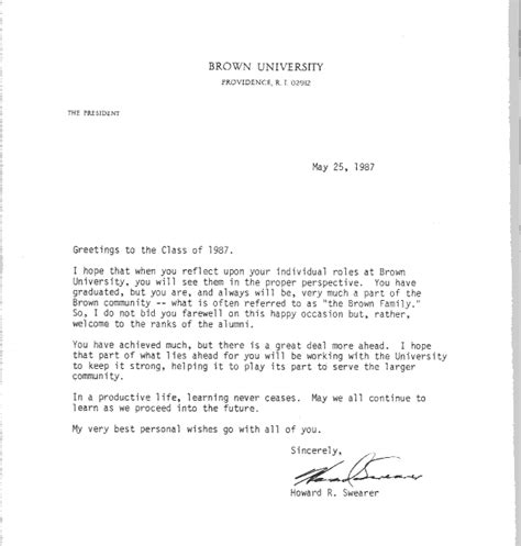 School Acceptance Letter Dates Brown Class Of 1987