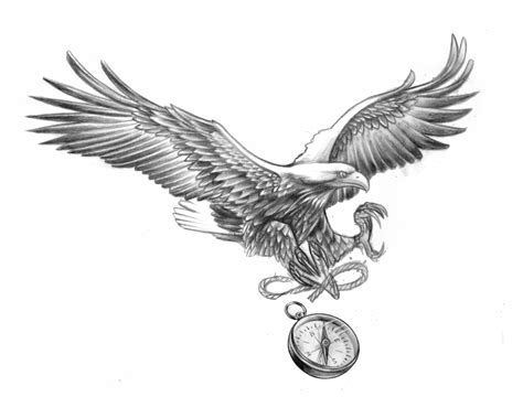 sea eagle tattoo designs eagle compass design caspian caspiandelooze