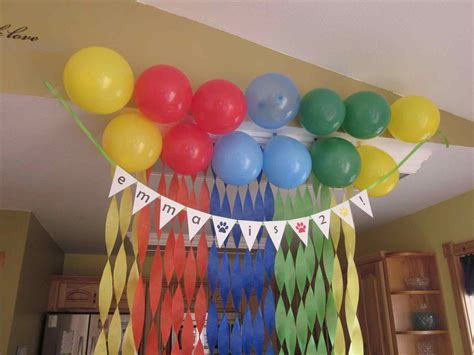 1st birthday simple decorations at home siudy net