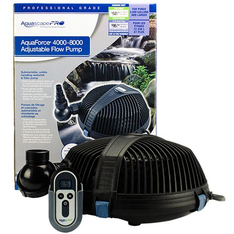 aquascape pro aquascape aquaforce pro 4000 8000 mpn 91104 best prices on everything for ponds