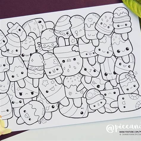easy doodle coloring pages inktober day 14 popsicles inktober2016 doodle coloring
